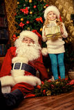 Gift to Santa royalty free stock photography