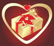 Gift to the Valentines day Royalty Free Stock Photo