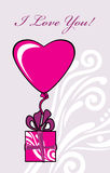 Gift to the Valentines day. Greeting card royalty free stock photography