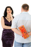 Gift to the woman Stock Photo