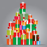 Gift Tree. Color Vector Drawing vector illustration