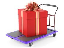 Gift and trolley Stock Photo