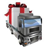 Gift truck concept Royalty Free Stock Images