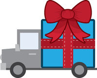 Gift on Truck Royalty Free Stock Photos