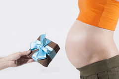 Gift for tummy pregnant Stock Photos