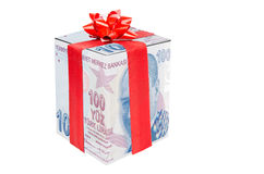 Gift  Turkish Lira Stock Photography
