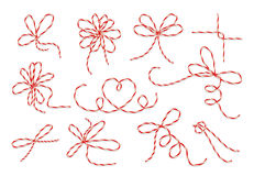 Gift twine bows vector set Stock Photo