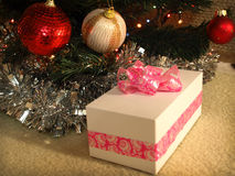 Gift under the Christmas tree Royalty Free Stock Images