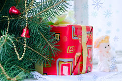 Gift under the Christmas tree Stock Image