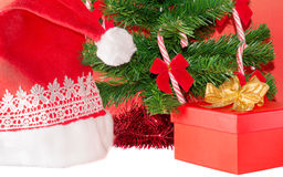 Gift under christmas tree Royalty Free Stock Images