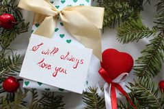 Gift for Valentine& x27;s day stock photo