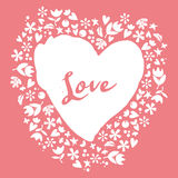 Gift on Valentine's Day. Heart. Royalty Free Stock Photography