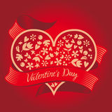 Gift on Valentine's Day. Heart. Royalty Free Stock Photo