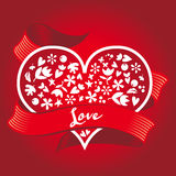 Gift on Valentine's Day. Heart. Royalty Free Stock Images