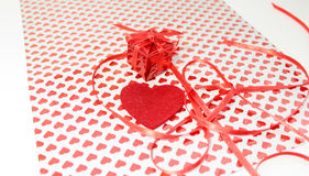 Gift on Valentine's Day Stock Images