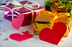 Gift for Valentine`s Day Royalty Free Stock Photo