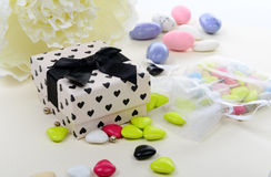Gift for Valentine's Day with some candies Royalty Free Stock Photos