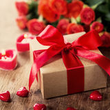 Gift on Valentine's Day Stock Photography