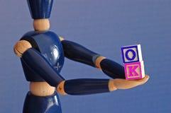 Gift van o.k. Stock Foto