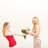 Gift van vriendschap Stock Foto's