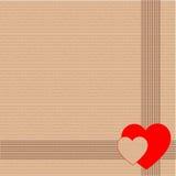 Gift verpakkend document of karton met harten Royalty-vrije Stock Afbeeldingen