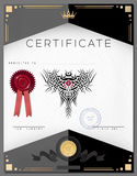 Gift vintage certificate diploma award border template Stock Images