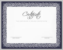 Gift Vintage Certificate / diploma / award template with border Royalty Free Stock Photography