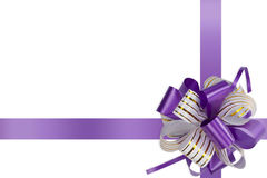 Gift violet bow Stock Images