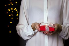 Gift voor de dag van dagvalentijnskaarten Royalty-vrije Stock Fotografie
