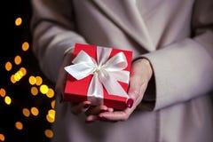 Gift voor de dag van dagvalentijnskaarten Royalty-vrije Stock Foto's