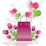 Gift voor de Dag van de Valentijnskaart Royalty-vrije Stock Afbeeldingen
