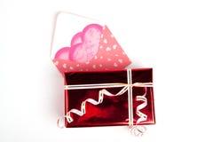 Gift voor de dag van de Valentijnskaart Royalty-vrije Stock Foto's