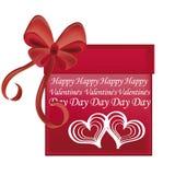 Gift voor de dag van de valentijnskaart Royalty-vrije Illustratie