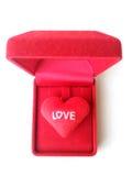 Gift voor de dag van de valentijnskaart Royalty-vrije Stock Fotografie