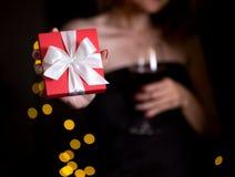 Gift voor de valentijnskaartendag Royalty-vrije Stock Afbeeldingen