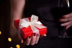 Gift voor de valentijnskaartendag Stock Fotografie