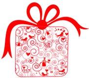 Gift voor Kerstmis of de dag van de Valentijnskaart Stock Fotografie