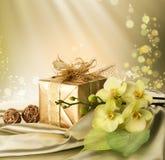 Gift voor st. De Dag van de valentijnskaart royalty-vrije stock afbeelding