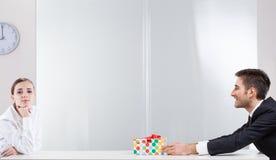 Gift voor werkgever Stock Foto's