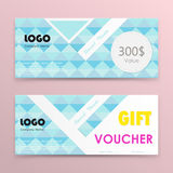 Gift voucher background or certificate coupon template with clea Royalty Free Stock Photos