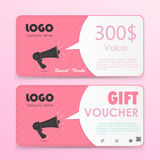 Gift voucher background or certificate coupon template Royalty Free Stock Images