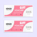 Gift voucher background or certificate coupon template Royalty Free Stock Photography