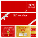 Gift voucher card Stock Photo