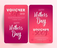 Gift Voucher Card Set Template. Gift certificate, Coupon template. royalty free illustration