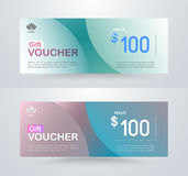 Gift voucher card template design. for special time, Best of cus Royalty Free Stock Photo