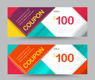 Gift voucher card template design. for special time, Coupon temp Royalty Free Stock Photography