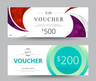 Gift voucher card template design. for special time, Coupon temp Royalty Free Stock Images