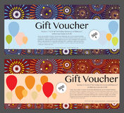 Gift Voucher Celebration Template Background Royalty Free Stock Image