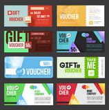Gift voucher certificate coupon Stock Image