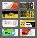 Gift voucher certificate coupon Stock Photos